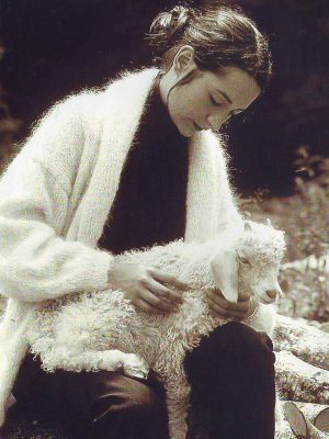 fiche tricot pour tricoter gilet long pour femme en laine mohair