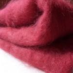 Couverture mohair rouge très chaude