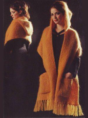 fiche tricot pour tricoter modele etole à capuche
