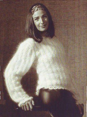 fiche tricot pour tricoter pull pour femme en laine mohair