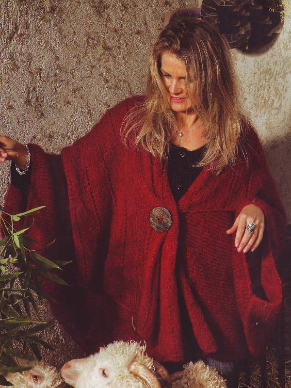 cape femme - cape en laine Mohair