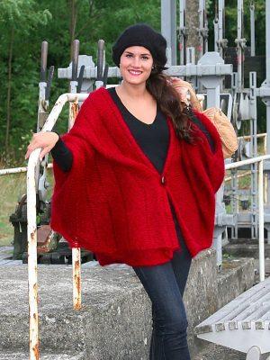 modele tricot cape laine mohair saphora