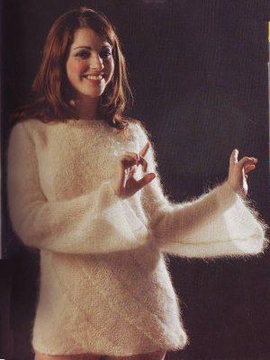 modele fiche tricot pour tricoter pull en laine mohair et soie