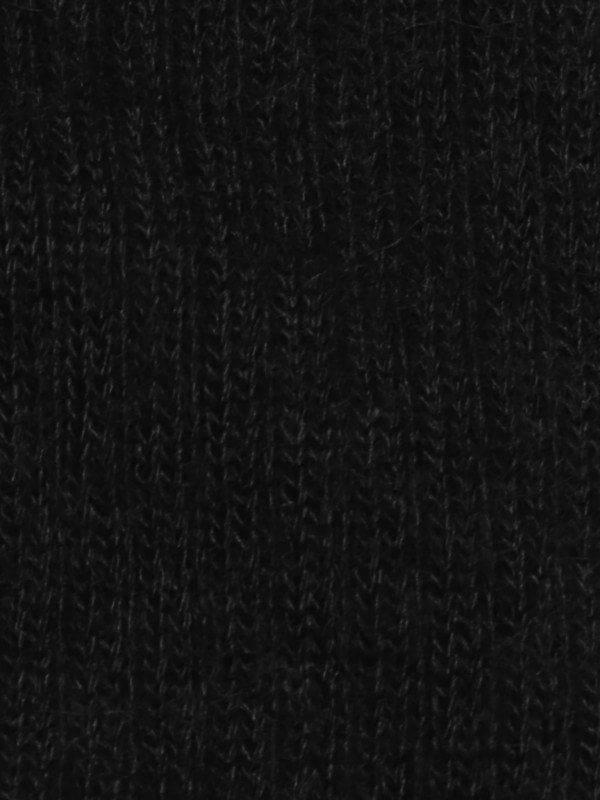 Chaussette chaude laine mohair noir détail maille