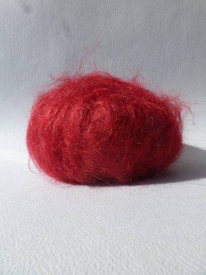 laine mohair à tricoter rouge grenade
