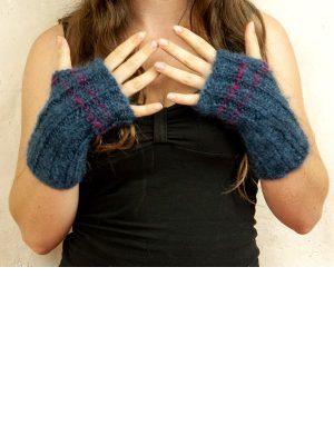 mitaine laine pur kid mohair tricot main