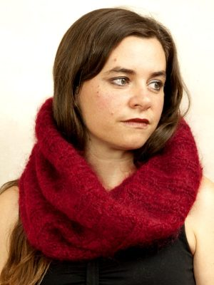 snood en laine mohair tricot main