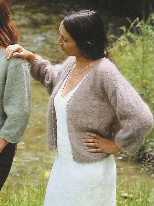 modele fiche tricot pour tricoter gilet en laine mohair