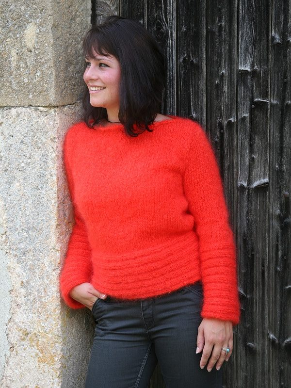 modele tricot pull laine mohair maia