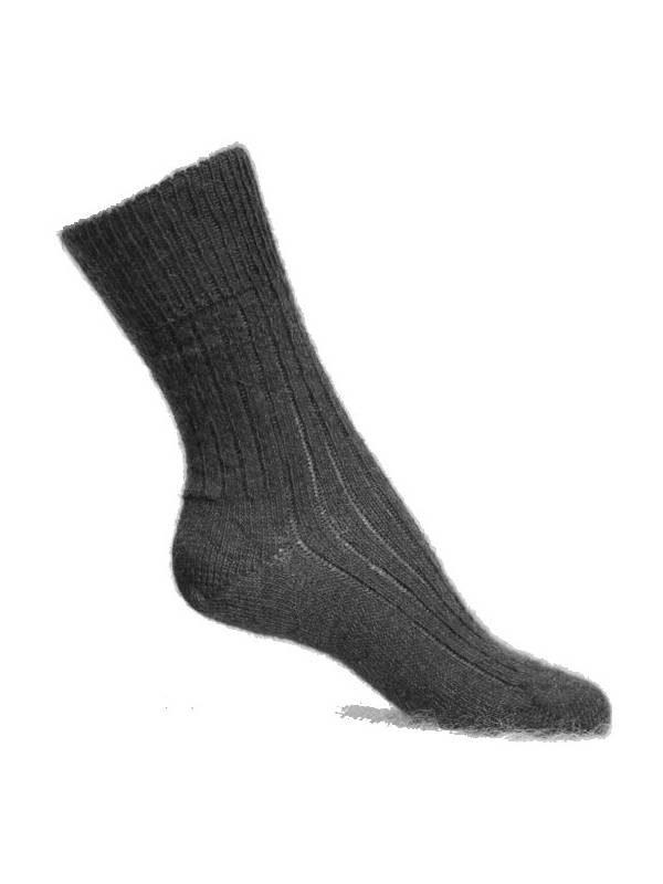 chaussette chaude qui ne serre pas noir