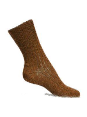 chaussette chaude qui ne serre pas marron