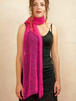 echarpe tricotee à la ferme mohair & soie