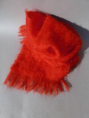 echarpe laine mohair cuivre