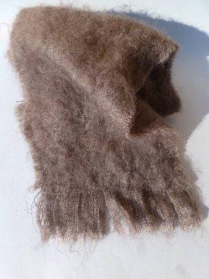 echarpe laine mohair marron bison