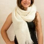 echarpe en laine mohair et soie grand modele
