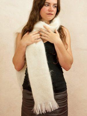 petite echarpe laine mohair et soie tissée