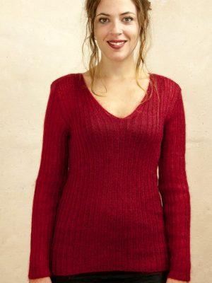 pull laine femme mohair et soie par la Ferme d'Auré