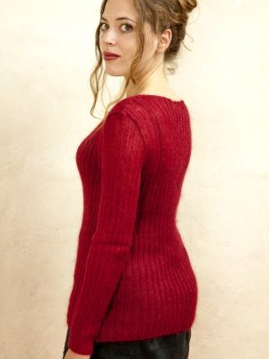 pull femme en laine mohair et soie