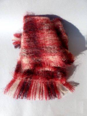 echarpe laine mohair tartan
