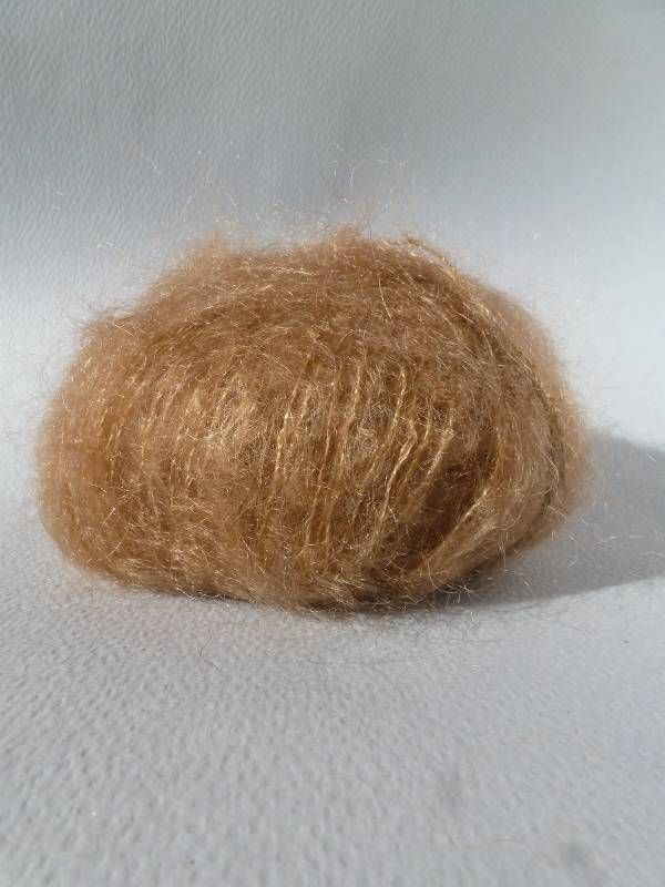 Laine mohair et soie marron liègeois