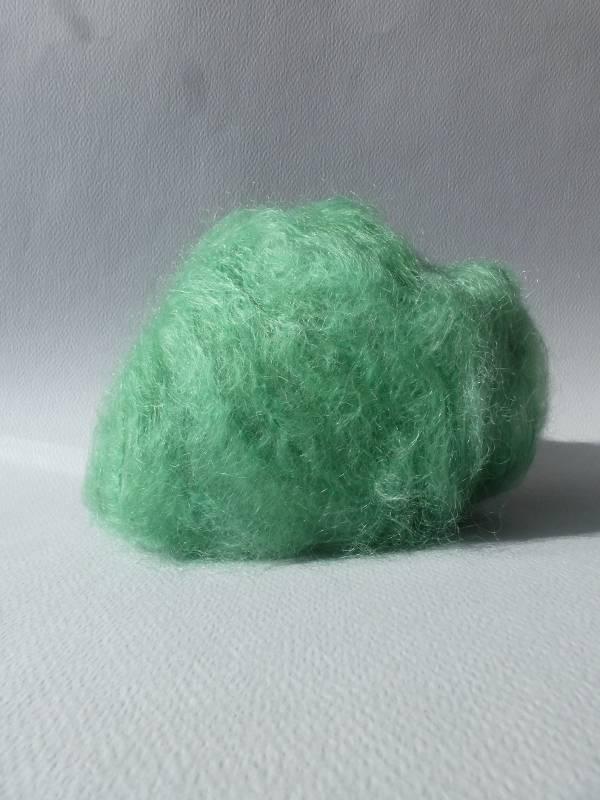 laine mohair vert jade