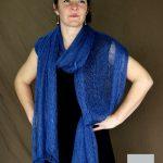 etole tricot mohair et soie portée en echarpe mohair