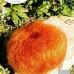Laine Mohair et Soie Orange cuivré - Mohair des fermes de France