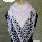 Echarpe mohair et soie foulard rose poudré par la Ferme d'Auré