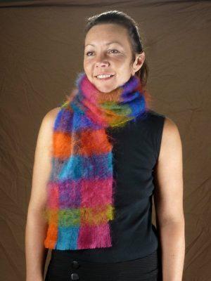 Echarpe mohair et soie multicolore par la Ferme d'Auré