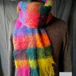 Echarpe laine Homme Mutlicolore - Mohair et soie
