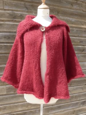 tricot sur mesure d'une veste mohair de forme trapeze