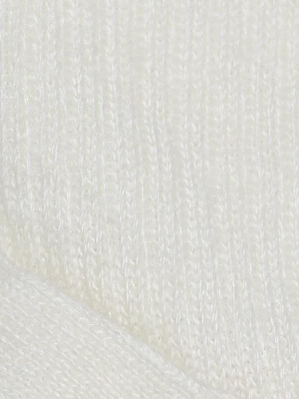 Chaussette chaude laine mohair ecru
