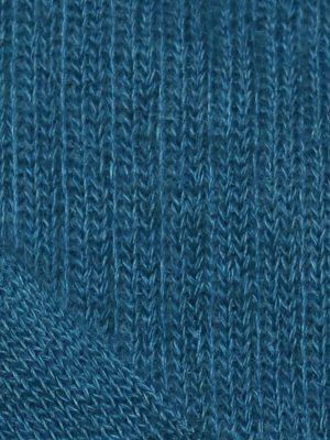 Chaussette chaude laine mohair bleu lagon détail maille
