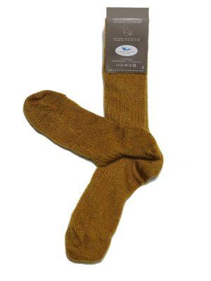 Chaussettes chaudes laine mohair moutarde