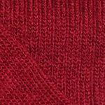 Chaussettes laine mohair rouge détail maille
