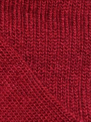 chaussette-chaude-laine-mohair-rouge-detail