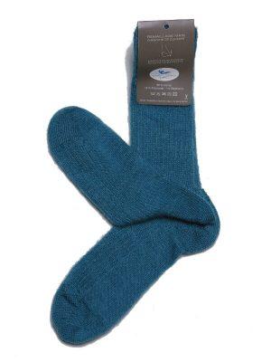 Chaussettes chaudes laine mohair bleu lagon