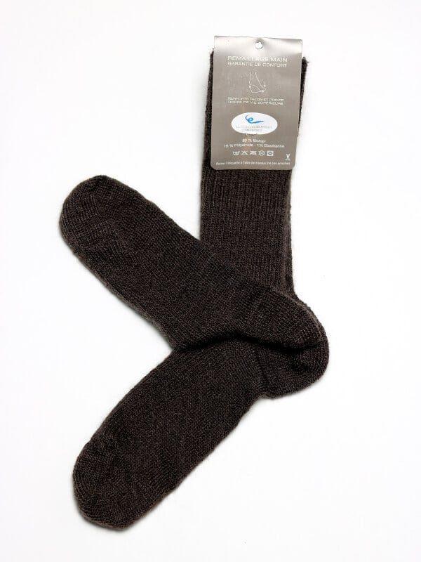 Chaussettes chaudes laine mohair noir