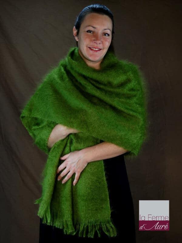 Etole femme mohair vert mousse