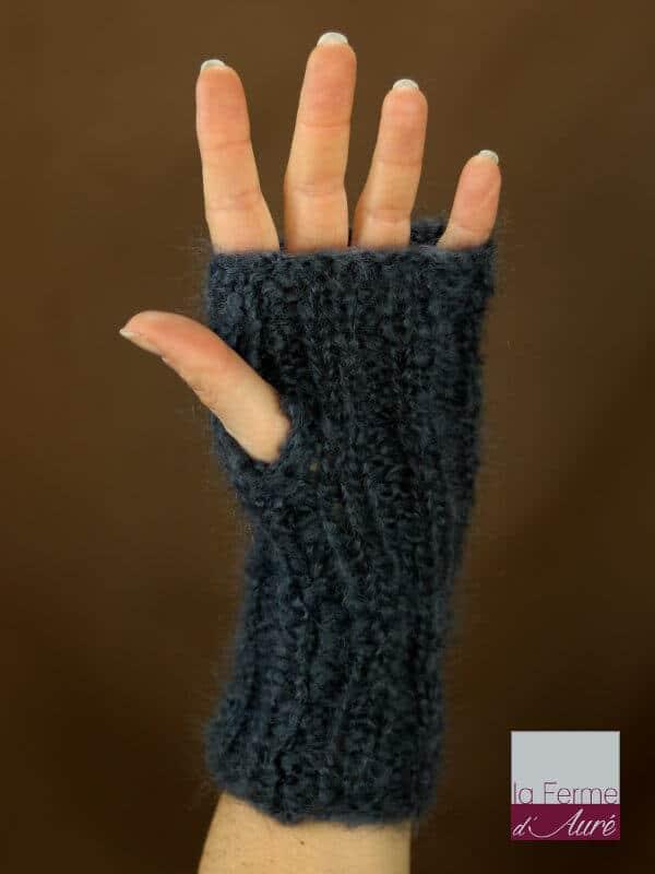 mitaines-laine-mohair-gris-ardoise-tricot-main