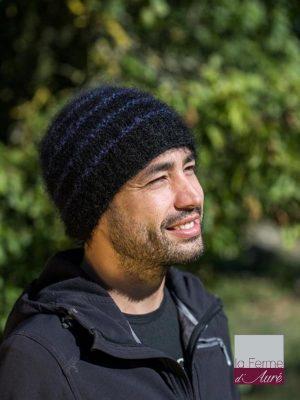modele tricot bonnet laine mohair