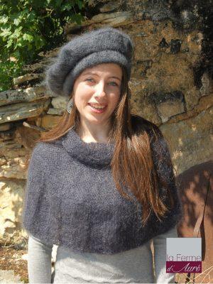 modele tricot mohair pour tricoter une capeline ou chauffe-épaules