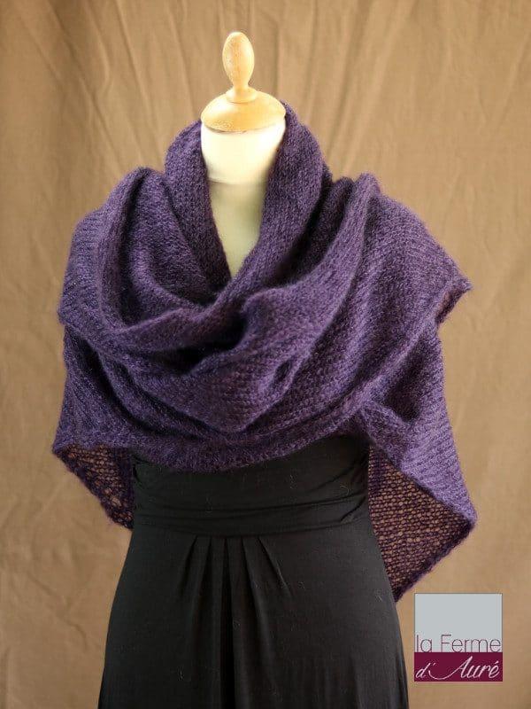 chale-femme-laine-mohair-violet-ferme-d-aure