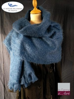 Etole mohair et soie bleu hollandais - Mohair Ferme d'Auré