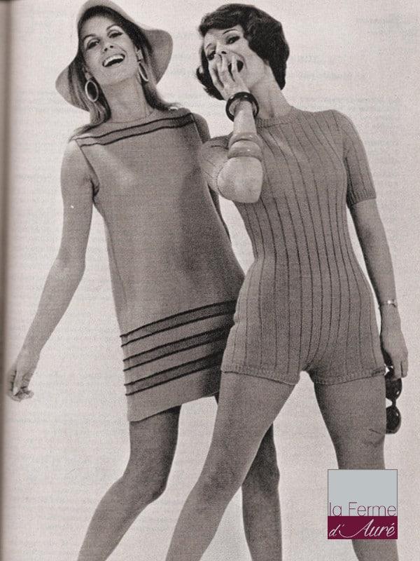 modele tricot vintage tunique et maillot