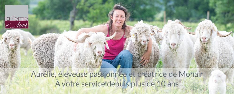 Aurélie et ses chèvres mohair - Mohair Ferme d'Auré