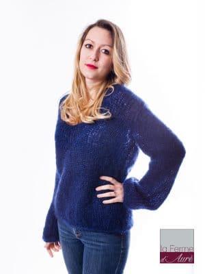 modele tricot femme debutant pull confort