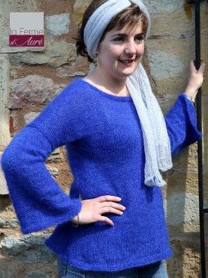 Modele tricot pull tunique mohair et soie