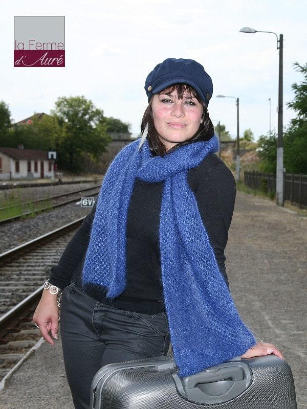 modele tricot femme snood echarpe etole mohair