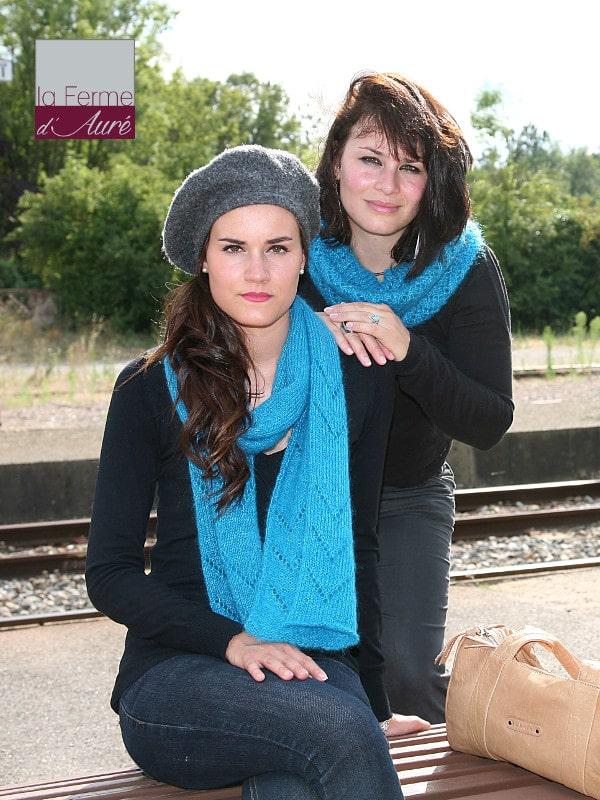 modele tricot femme pour echarpe et snood